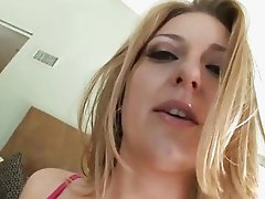 Avy Scott moistens up her soft snatch before being smashed up her gash