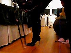 Men in very sexy Gianmarco Lorenzi Boots masturbation!