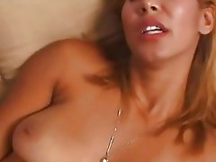 Lusty naked Isis Love toys her pussy with her favorite dong and loves it a lot