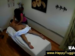 Asian masseuse tries to turn on client
