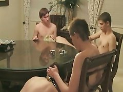 Studs playing games and having group sex