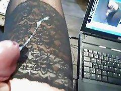 cum over her stockings abgespritzt auf ihre Nylons
