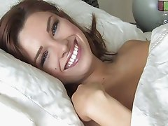 Sabrina amazing redhead girl having fun on the bed