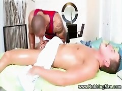 Straight guy surrenders to gay massage experience