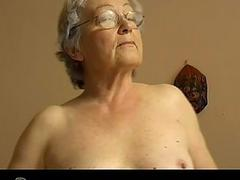 Granny with dildo