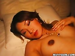 Bitchy Japanese girl gets her wet swollen pussy tickled a lot