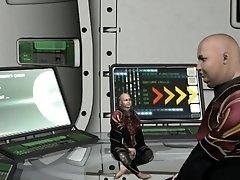 Banging on a spaceship, an interracial porn parody