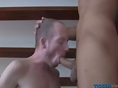 Horny fruit Sean Taylor drills Felix Chase and Jack Ashley