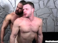 Muscular bear rimmed and barebacked