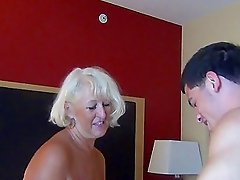 Two horny grandmas get screwed really hard in a kinky threesome