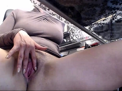 Bodacious nympho gets naked and fingers her cunt to climax
