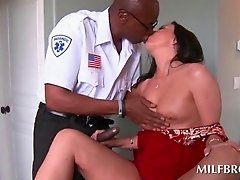 Black guy licking white MILFs tasty cunt