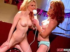 Lesbian threesome with Jana Jordan and her birthday girls