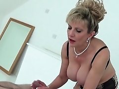 Unfaithful british milf lady sonia displays her monster knoc