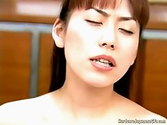 Lustful Jap skank is getting her coochie toy fucked in kinky porn clip