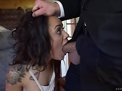 It's time for sexy Holly to try getting shagged into her other hole
