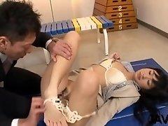 Sexy teacher bends for cock