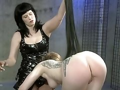 Mistress simply loves fucking her slave with a strap on