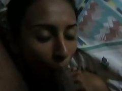 Sexually aroused Srilankan girl giving head in homemade sex tape