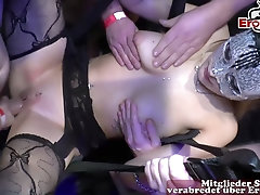 Sexparty with creampie and german hot girls