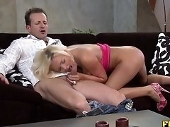 Anal Lover Licks Creampie Off The Table