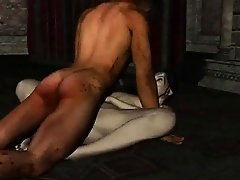 Pale 3D cartoon vampire vixen getting fucked hard