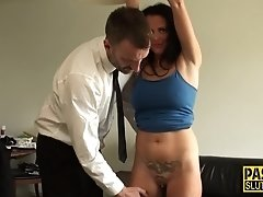 Milf sub toys her pussy