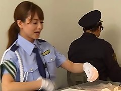 Female Asian cop fucks her prisoner to make him talk