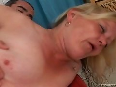 Full bodied granny fucked bad doggy style in kinky old and young video