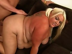 Super size fat girl appreciates his big fat cock