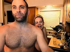 Voluptuous amateur wife relishes a deep drilling on webcam