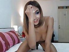 Ladyboy teases her sexy body
