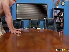 Black kinky judge and his buddy bang slutty busty hotties on table hard