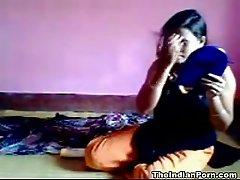 Ugly Indian bitchie girlfriend gonna suck her boyfriend's lollicock