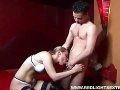 Hooker lets him bang her then he unloads on her face