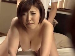 Busty Asian babe seduces a guy and rides his dick