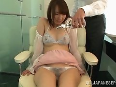 Attractive Asian dame getting her juicy pussy fingered in close up shoot