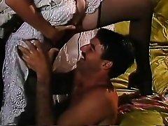 Tracey Adams, Mike Horner, John Leslie in vintage porn scene