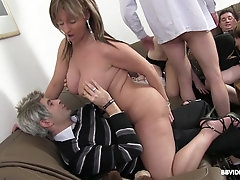 Classy party turns into a hardcore wild orgy outdoors