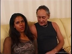 A helpful, Latina maid cleans house and rides her boss's cock