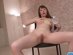 Rei Furuse amazing pussy play during solo adventure