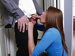 Ryan fucks Kristen Lees pussy on top