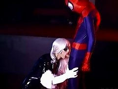 Black Cat fucks by Spidey from behind