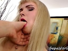 European babe assfucked in gaping booty