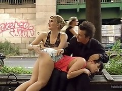Big tittied hooker Pina De Luxe is punished in public
