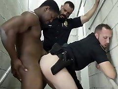 Male gay porn Fucking the white officer with some