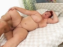 Chubby red haired woman likes it harder and ruder