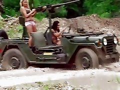 Hot babes drive tanks and wrecking cars