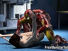 Tasty 3D cartoon babe getting fucked by Iron Man