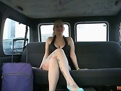 Shameless girl Candela stripping and posing for cam on a back seat in a car